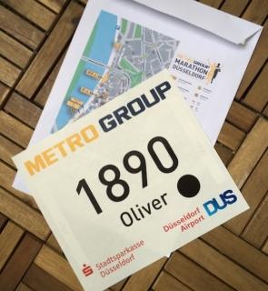 Startunterlagen Marathon 2015