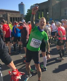 Metro Marathon 2017, vor dem Start, noch gut drauf