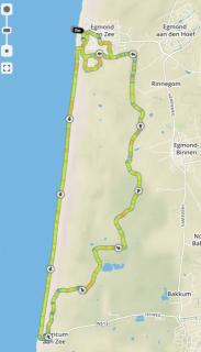Egmond Halbmarathon Strecke 2015